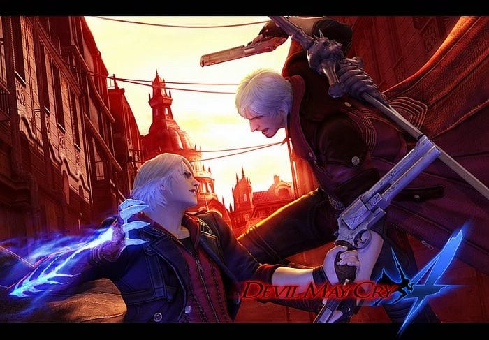 Devil May Cry 4 Official Wallpaper Dante VS Nero