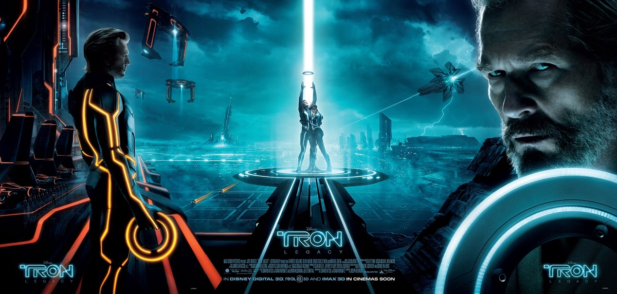 Tron Legacy Full Triptych Poster US