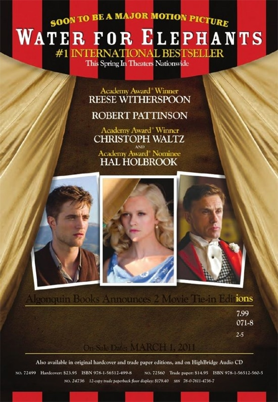 Water For Elephants - Poster Teaser