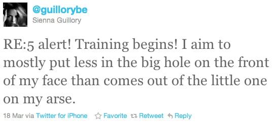 Sienna-Guillory-Twitter-Resident-Evil-5-Training-Begins