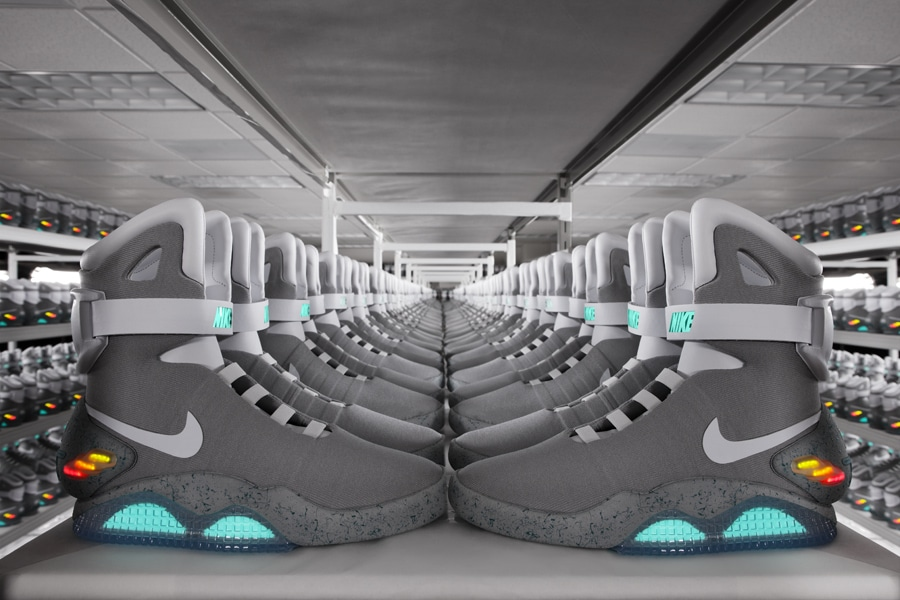 Nike Nike Mag Back to the Future Warehouse Lineup 01 Retour vers le Futur 2 : 1500 Nike Mag aux enchères