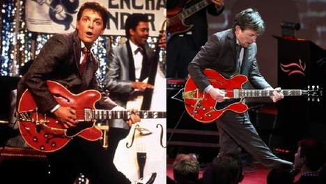 Marty McFly Michael J Fox Johnny B Goode Michael J. Fox : ressuscite Johnny B. Goode