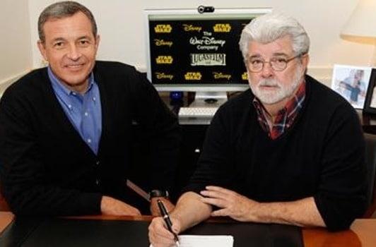 George Lucas LucasFilm Bob Iger Disney Picture 01 Star Wars 7 pour 2015, Disney rachète LucasFilm
