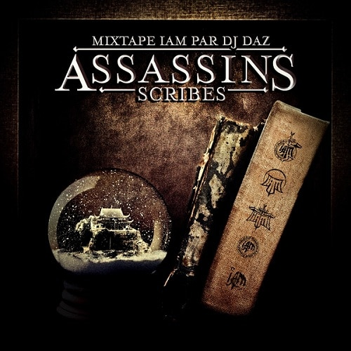 IAM-MixTape-IAM-par-DJ-DAZ-Assassins-Scribes-Volume-1-Cover-Font