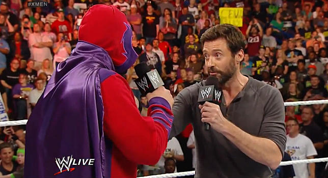 Hugh Jackman Battle WWE Damien Sandow