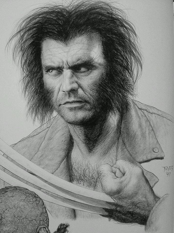 Miles Teves - Concept Art - Mel Gibson is Wolverine
