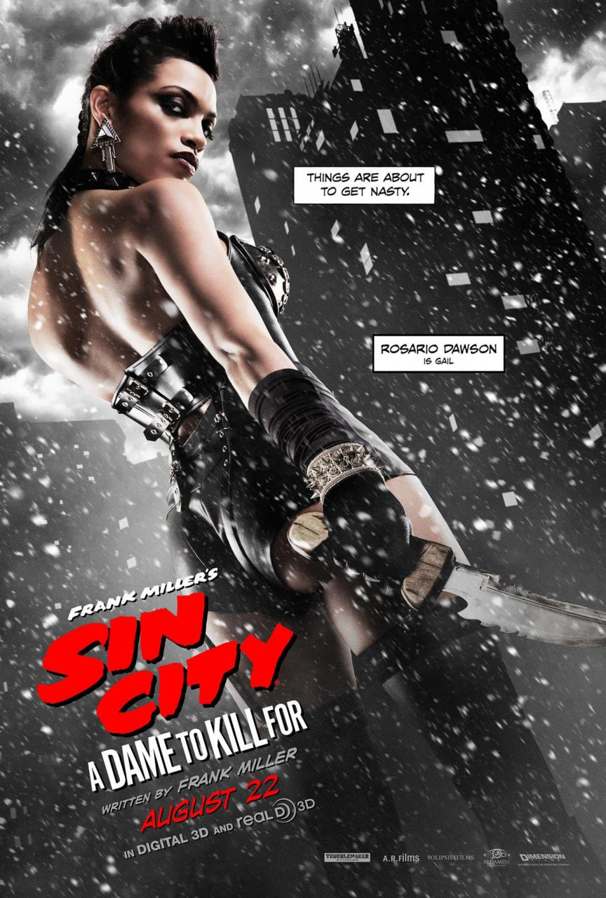 Sin-City-A-Dame-To-Kill-For-Character-Poster-Rosario-Dawson-is-Gail