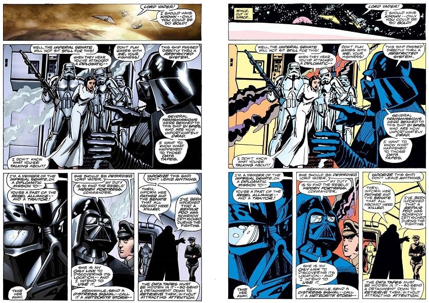Star-Wars-Episode-IV-A-New-Hope-Original-Graphic-Novel-1977-2015-Comparison