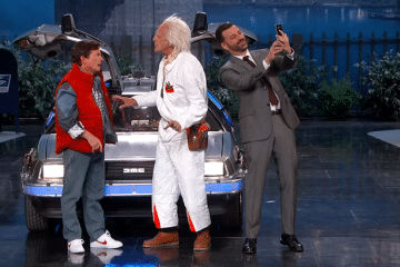 Michael J Fox - Christopher Lloyd - Jimmy Kimmel - 21 October 2015