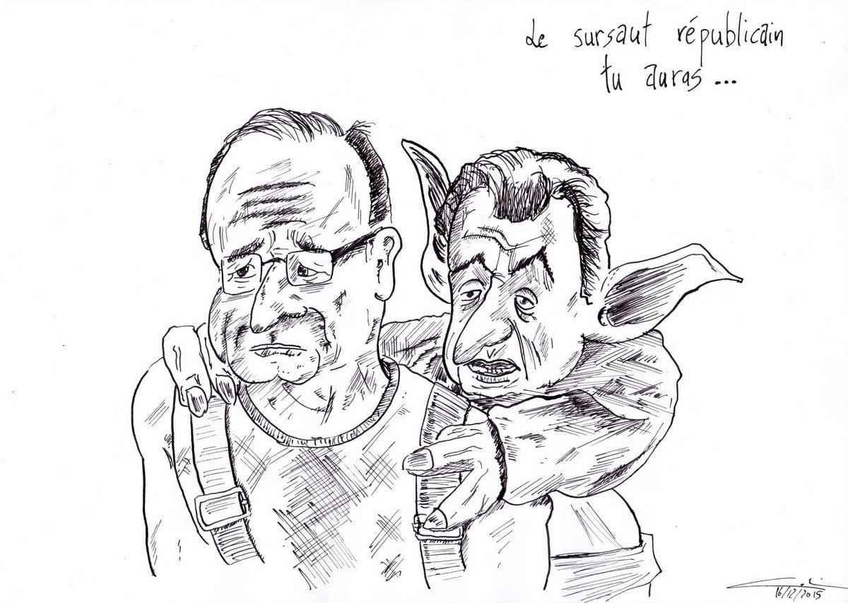 Colin-Gribouille-l'Actu-Hollande-Sarko-Le-côté-républicain-de-la-force