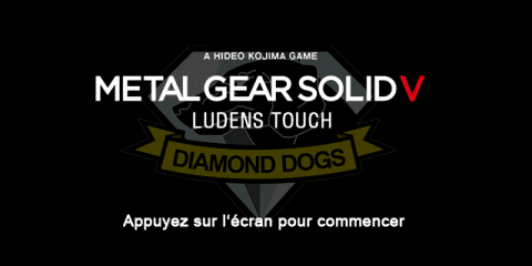 Metal Gear Solid V Ludens Touch Title Screen